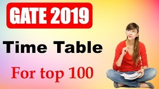 GATE 2019 Time table to get AIR top 100 | Strategic Time Management for GATE 2019
