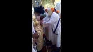 Sanman at Takhat Sachkhand Shri Hazur Sahib of Jathedar Baba Premsingh ji 15th Chief Baba Budha Dal