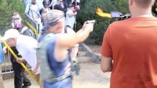 Klan Leader Shoots At Black Man...Cops Don't Budge (VIDEO)
