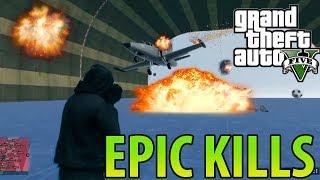 GTA V ONLINE - EPIC KILLS Y KARMA DEL MES!! | Los mejores clips
