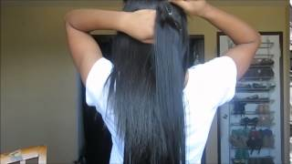 Straightening my Natural Hair + Installing Clip Ins