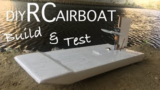 Building a RC Airboat out of Depron! 🛥⚓️🔩🔧
