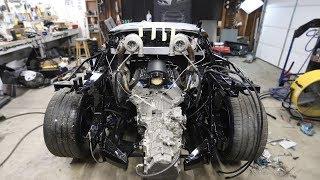 Final Engine Install & Shaving Carbon Door Handles ( 5 Days Till SEMA )