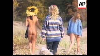 Russia : St. Petersburg Nudists Club End Of Season Swim - 1995