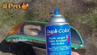 DIY: Headlight Restoration using Clear Coat