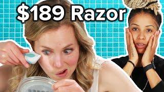 Women Try A $189 Face Razor