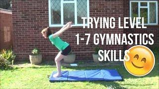Trying Level 1-7 Gymnastics Skills (Level Requirements!)