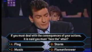 1/2 Charlie Sheen on celeb millionaire