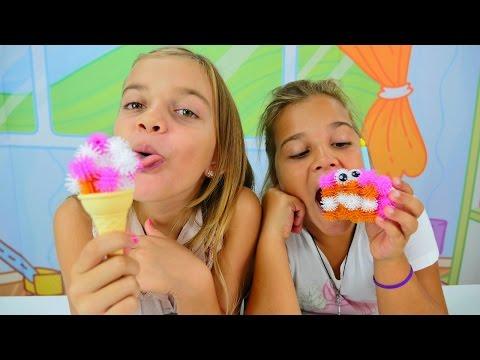 Muffin, kek ve #dondurmayapmaoyunu. Kızlar için en yeni oyunlar. Bunchems setiyle çocuk oyunları