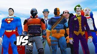 SUPERMAN VS BATMAN ENEMIES - DEADSHOT, THE JOKER, HARLEY QUINN, DEATHSTROKE VS SUPERMAN