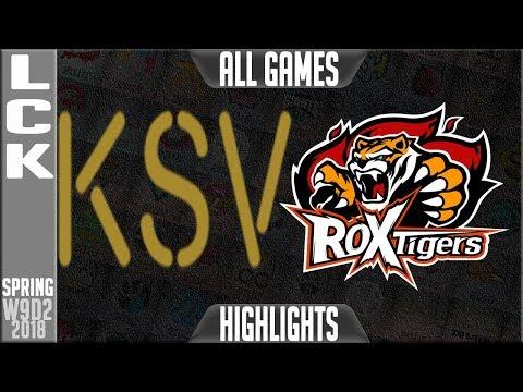 Xxx Mp4 KSV Vs ROX Highlights ALL GAMES LCK Week 9 Spring 2018 W9D2 KSV E Sports Vs ROX Tigers 3gp Sex