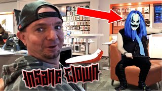 JAMES ELLSWORTH STALKED BY KILLJOY The KLOWN! SKYPE VID w/ SCARY CLOWN IN THE WOODS!