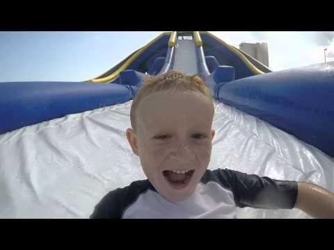 North Mytle Beach Huge Trippo Slide fun with gopro Blake