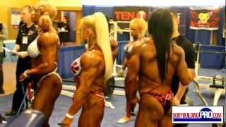 Female Bodybuilders Pump Room - 2013 Arnold