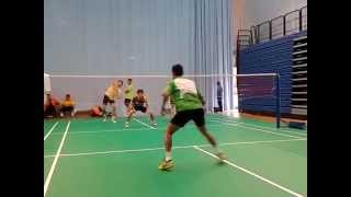 Lee Chong Wei Training 3 v 1 with Daren Liew and Chong Wei Feng of Malaysian badminton singles team