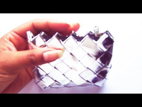 30. Como hacer monedero con bolsas de papitas Reciclaje Ecobrisa
