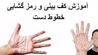 آموزش کف بینی و رمز گشایی خطوط دست