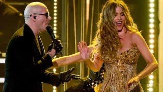 Sofia Vergara Dances With Pitbull for 2016 Grammys Performance