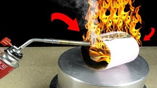 experiments! toilet paper vs gas torch at home.extreme hot gas torch vs comb & more in 2018