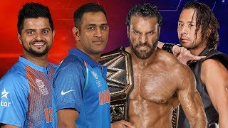 M.S. Dhoni & Raina VS Jinder Mahal & Shinsuke Nakamura - Tag Team Match