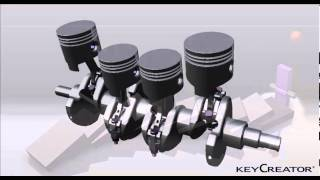 KeyCreator Direct CAD Animation - Pistons