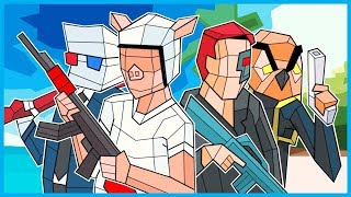 WILDCAT & Terroriser vs. Vanoss & SMii7Y in Pixel CS:GO! (Shooty Squad Funny Moments!)