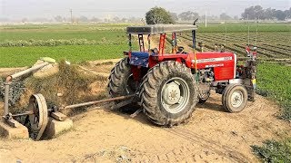 MF 385 Tractor Operating with PTO Turbine Pump