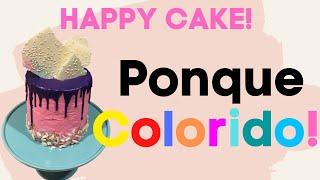 UN PONQUE FELIZ DE COLORES ~ HAPPY DROPPING  CAKE !