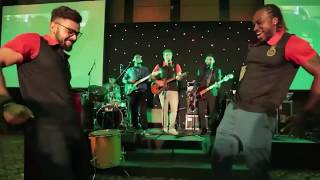Virat kohli and Chris gayle bhojpuri song funny dance with Watson 😁😂