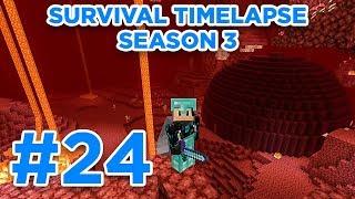 MAKING NETHER HUB! (Part 2) | Minecraft Survival Timelapse Season 3 Episode 24 | GD Venus |