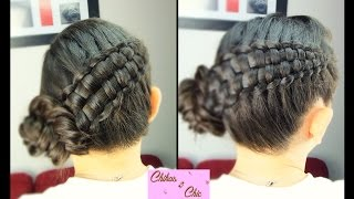 Double Braid Updo - Zipper Braid Updo | Braided Hairstyles | Cute Girly Hairstyles