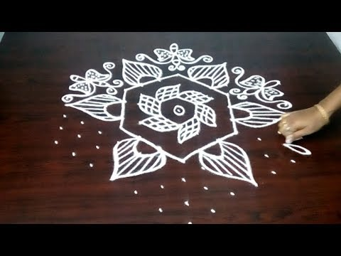Butterfly Ragoli Designs With  13 x 7 Dots || Festival Special Rangoli || Fashion World