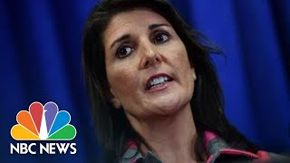 Nikki Haley To Resign As President Donald Trump