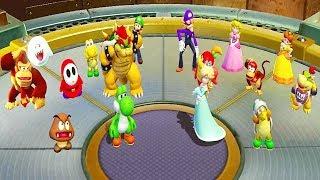 Super Mario Party - Dust Buddies - Groomba Vs Hammer Bro Yoshi Rosalina All Funny Minigames