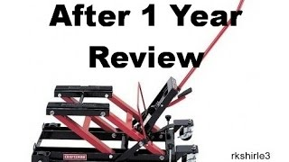 Craftsman Motorcycle Jack and ATV Lift - Review after 1 Year