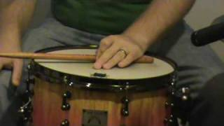 Drum Lesson Cross stick, ideas beginning and advanced