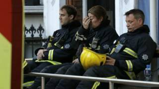 Grenfell Tower: Hero firefighters cry during minute