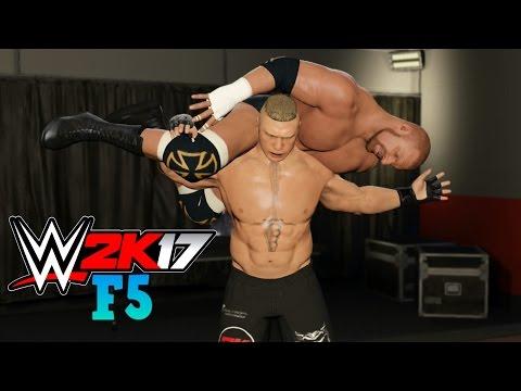 WWE 2K17 - BROCK LESNAR F5 COMPILATION!