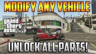 Gta 5 Online - Modify Any Vehicle! Unlock All Car Parts!