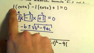 Solving Trigonometric Equations Using the Quadratic Formula - Example 1