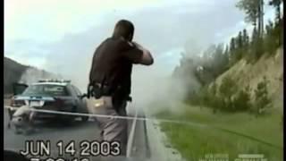 World's Wildest Police Videos - Crazy Montana Chase, Shootout & Crash