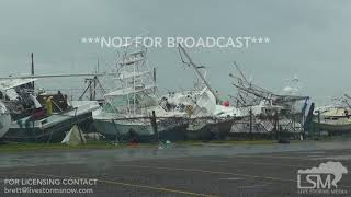 8-26-17 Rockport, Texas Significant Damage  - Boats Tossed - Destroyed - Surge