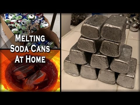 Melting Aluminum Cans At Home Easy DIY Recycling Process