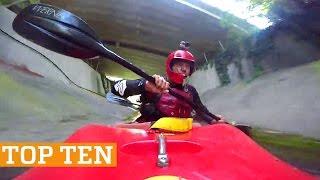 TOP TEN: Kayaking, Skimboarding & Trick Shots! | PEOPLE ARE AWESOME 2017