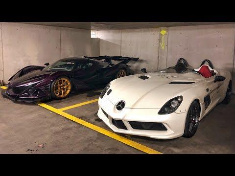 30 Millions € d HYPERCARS dans un parking en Suisse