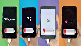 Samsung Galaxy Note 8 vs OnePlus 5 vs Pixel XL vs LG G6 - Battery Drain Test! (4K)