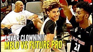 LaMelo Ball TRIPLE DOUBLE vs Future NBA Pro! LaVar Doing SIT UPS During GAME!! Wtf 😂💀