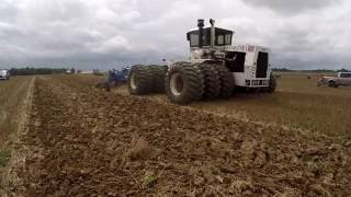 Ground View of a Big Bud and 21 Bottom Plow