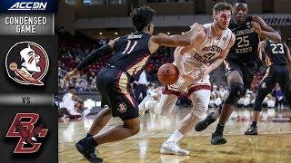Florida State vs. Boston College Condensed Game   2018-19 ACC Basketball