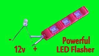 Powerful 12v LED Flasher
